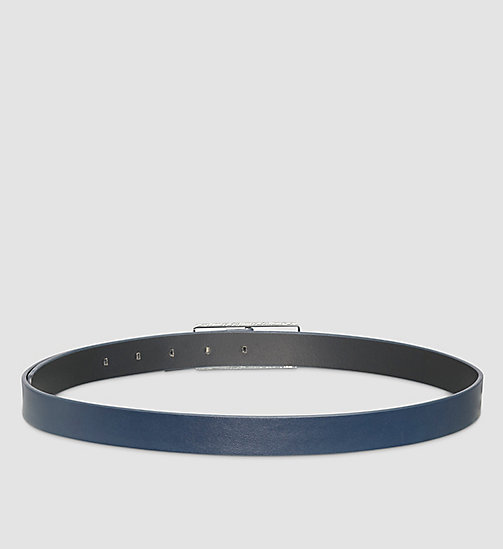 Skinny Leather Belt - BLUE NIGHT - CALVIN KLEIN  - detail image 1