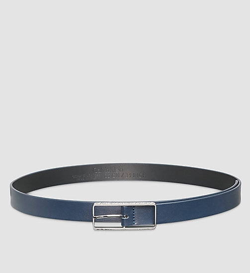 CALVINKLEIN Skinny Leather Belt - BLUE NIGHT - CALVIN KLEIN BELTS - main image