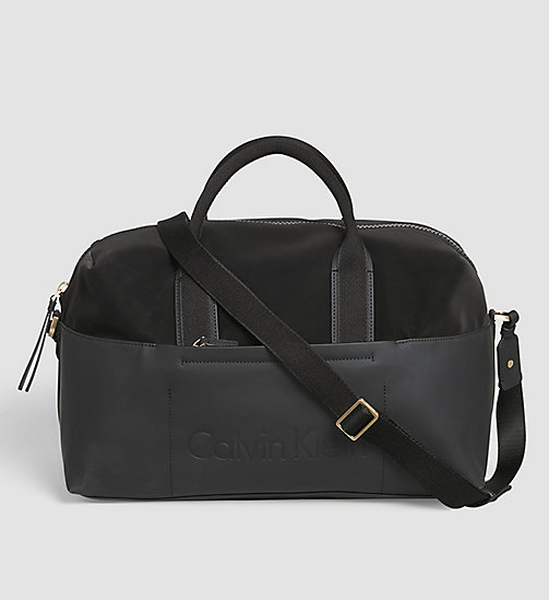 CALVINKLEIN Medium Gym Duffle Bag - BLACK - CALVIN KLEIN ACTION-PACKED - main image