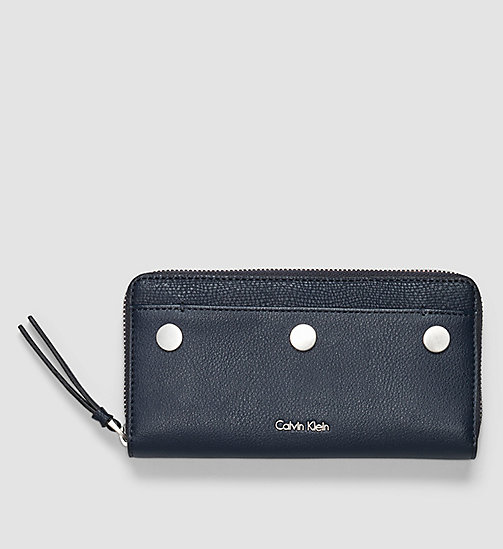CALVINKLEIN Large Ziparound Wallet - BLUE NIGHT - CALVIN KLEIN  - main image