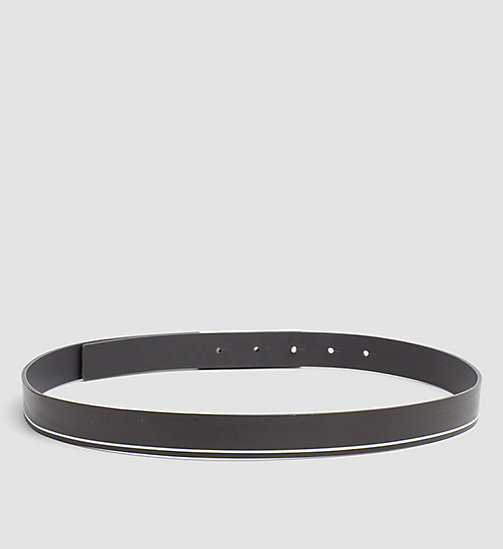 CALVINKLEIN Curved Plaque Leather Belt - BLACK - CALVIN KLEIN GIFTS FOR HER - detail image 1