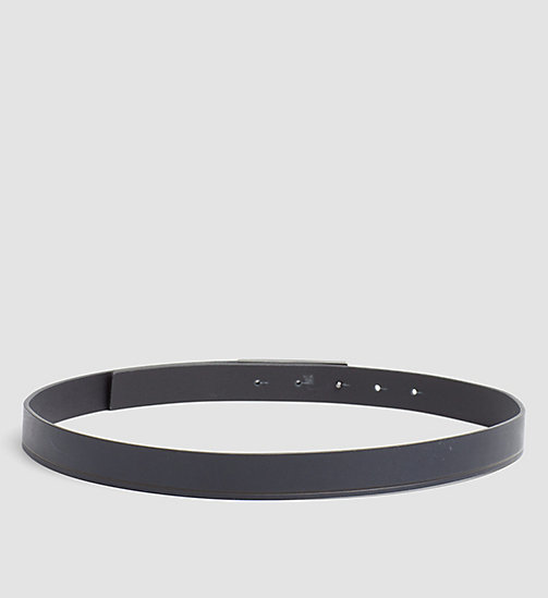 CALVINKLEIN Curved Plaque Leather Belt - BLUE NIGHT - CALVIN KLEIN GIFTS FOR HER - detail image 1