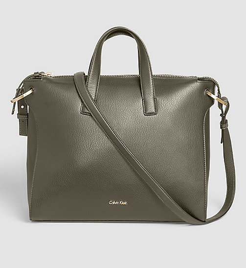 CALVINKLEIN Tote Bag - BLACK OLIVE - CALVIN KLEIN SHOES & ACCESSORIES - main image