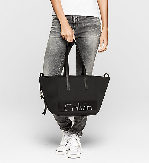 CKJEANS Neoprene Tote Bag - BLACK - CK JEANS Up to 40% - detail image 1