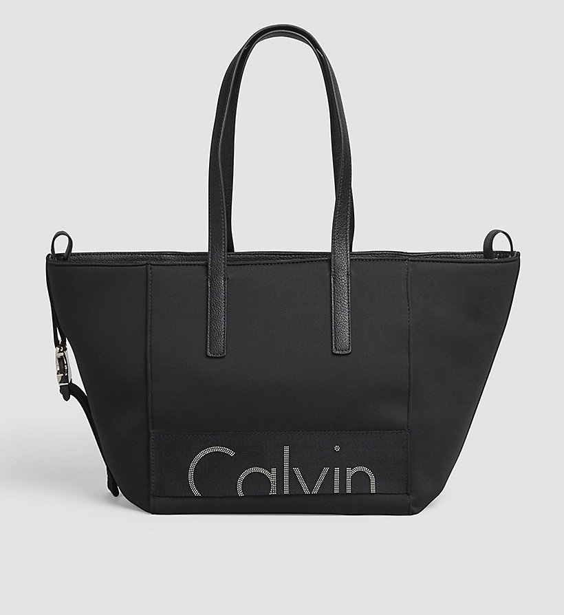 CKJEANS Neoprene Tote Bag - BLACK - CK JEANS SHOES & ACCESSORIES - main image