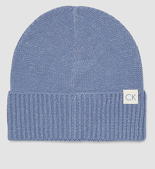 CALVINKLEIN CK Beanie - CASHMERE BLUE - CALVIN KLEIN SHOES & ACCESSORIES - main image