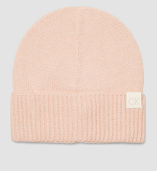 CK Beanie - SOFT PINK - CALVIN KLEIN SHOES & ACCESSORIES - main image