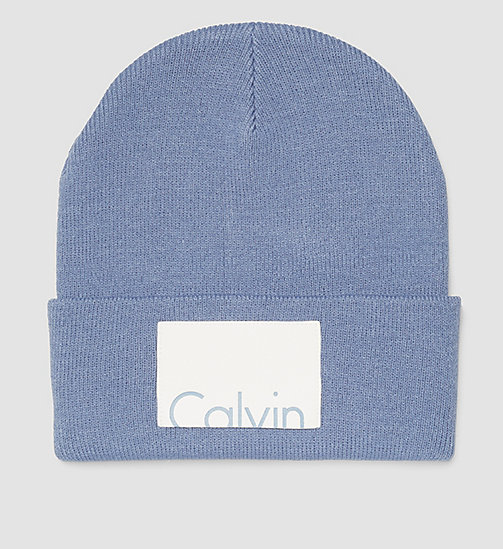 Calvin Beanie - CASHMERE BLUE - CALVIN KLEIN SHOES & ACCESSORIES - main image