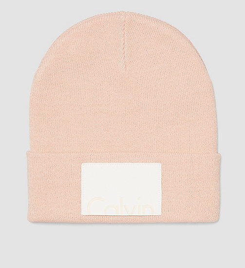 Calvin Beanie - SOFT PINK - CALVIN KLEIN SHOES & ACCESSORIES - main image