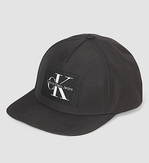 Cotton Twill Baseball Cap - BLACK - CALVIN KLEIN  - main image