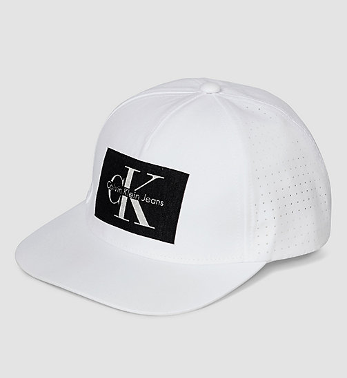 CALVINKLEIN Cotton Twill Baseball Cap - POWDER WHITE - CALVIN KLEIN ACTION-PACKED - main image