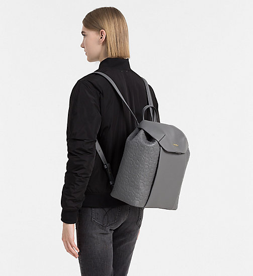 CALVINKLEIN Logo Backpack - STEEL GREY - CALVIN KLEIN  - detail image 1