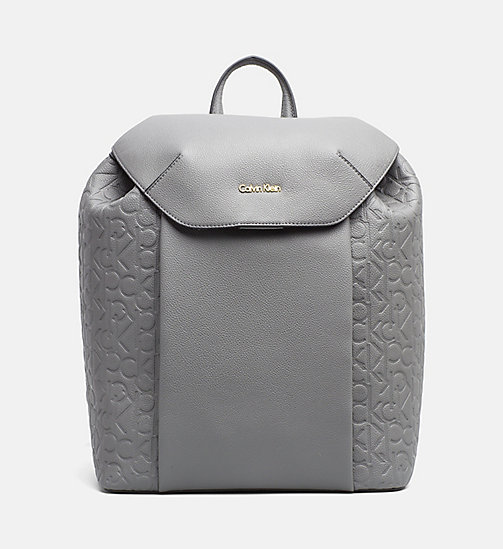 CALVINKLEIN Logo Backpack - STEEL GREY - CALVIN KLEIN  - main image