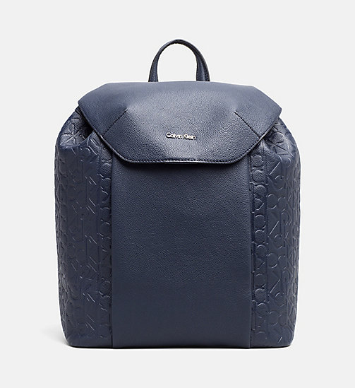 CALVINKLEIN Logo Backpack - BLUE NIGHT - CALVIN KLEIN  - main image