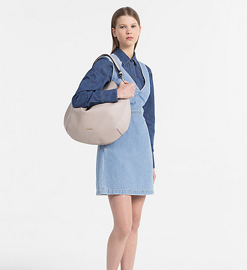 Round Hobo - MUSHROOM - CALVIN KLEIN SHOES & ACCESSORIES - detail image 1