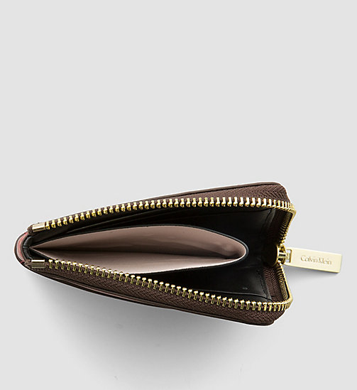 CALVINKLEIN Leather Zip-Around Cardholder - HENNA - CALVIN KLEIN SHOES & ACCESSORIES - detail image 1