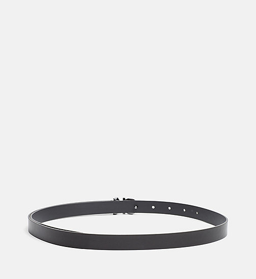CALVINKLEIN Skinny Leather Waist Belt - BLACK - CALVIN KLEIN SHOES & ACCESSORIES - detail image 1