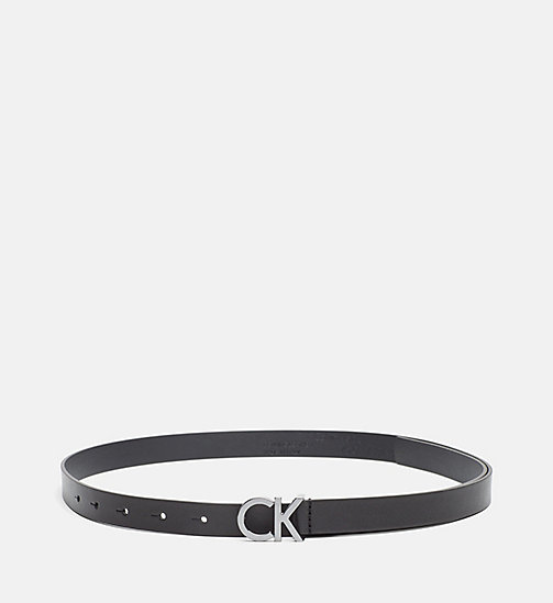 CALVINKLEIN Skinny Leather Waist Belt - BLACK - CALVIN KLEIN SHOES & ACCESSORIES - main image