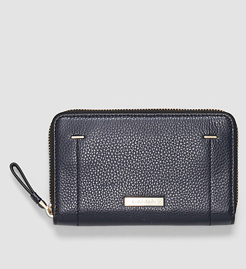 Leather Ziparound Wallet - BLUE NIGHT - CALVIN KLEIN  - main image