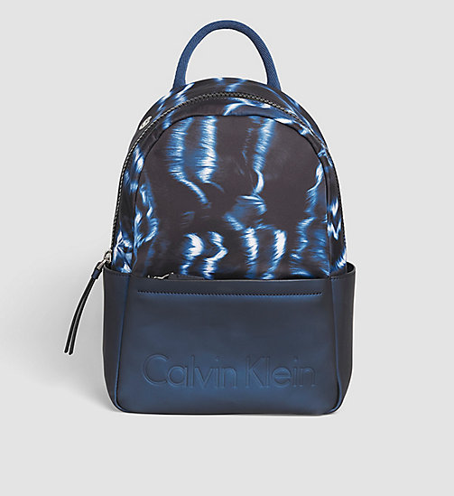 CALVINKLEIN Printed Backpack - BLUE NIGHT - CALVIN KLEIN BACKPACKS - main image