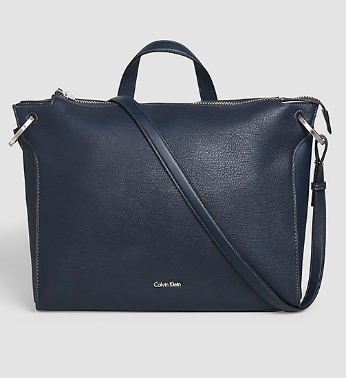 CALVINKLEIN Back Handle Satchel - BLUE NIGHT - CALVIN KLEIN  - main image
