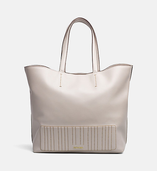 CALVINKLEIN Shopper Tote Bag - MUSHROOM - CALVIN KLEIN SHOES & ACCESSORIES - main image