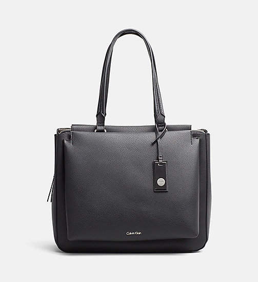 CALVINKLEIN Tote Bag - BLACK/GUNMETAL - CALVIN KLEIN SHOES & ACCESSORIES - main image