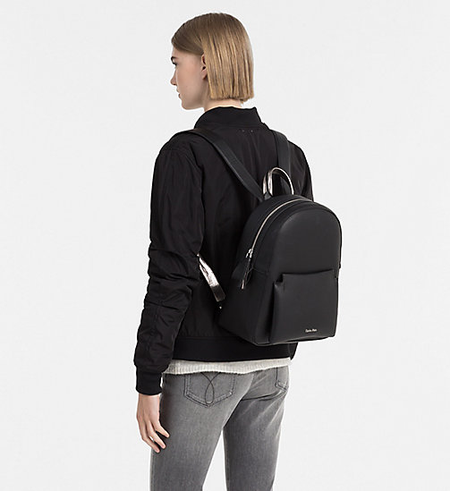Backpack - BLACK/GUNMETAL - CALVIN KLEIN SHOES & ACCESSORIES - detail image 1