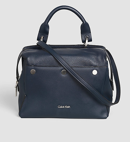 CALVINKLEIN Medium Satchel-Bag - BLUE NIGHT - CALVIN KLEIN SATCHEL - main image