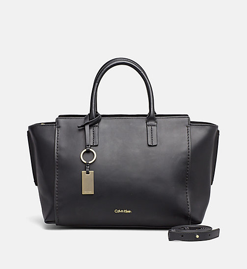 Leather Tote Bag - BLACK - CALVIN KLEIN SHOES & ACCESSORIES - main image