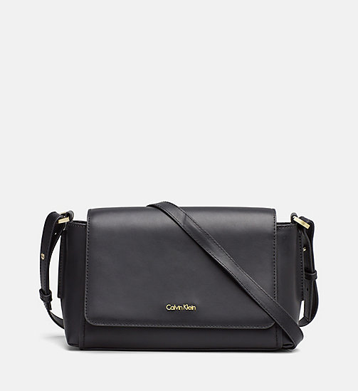 Medium Leather Flap Crossover - BLACK - CALVIN KLEIN SHOES & ACCESSORIES - main image