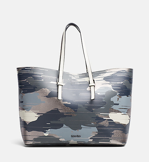 Large Bag-In-Bag Printed Tote - CAMO PRINT / DUSTY IVORY - CALVIN KLEIN  - main image