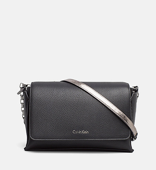 Medium Satchel - BLACK/GUNMETAL - CALVIN KLEIN SHOES & ACCESSORIES - main image