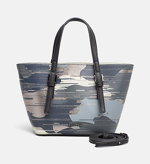 Small Bag-In-Bag Printed Tote - CAMO PRINT / DUSTY IVORY - CALVIN KLEIN  - main image