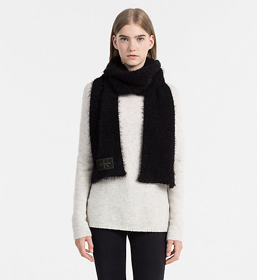 Fuzzy Scarf - BLACK - CALVIN KLEIN SHOES & ACCESSORIES - detail image 1