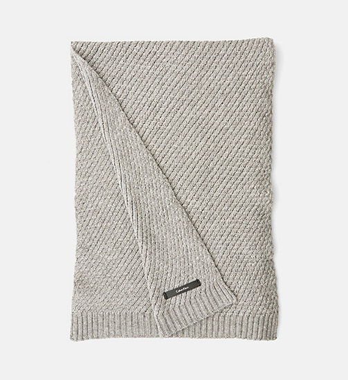 CALVINKLEIN Twist Wool Blend Scarf - STEEL GREY - CALVIN KLEIN ACCESSORIES - main image