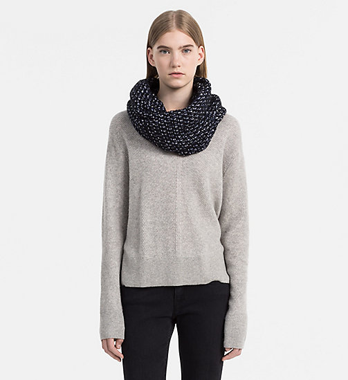 CALVINKLEIN Heavy Knit Snood - BLACK/POWDER WHITE/OMBRE - CALVIN KLEIN SCARVES - detail image 1