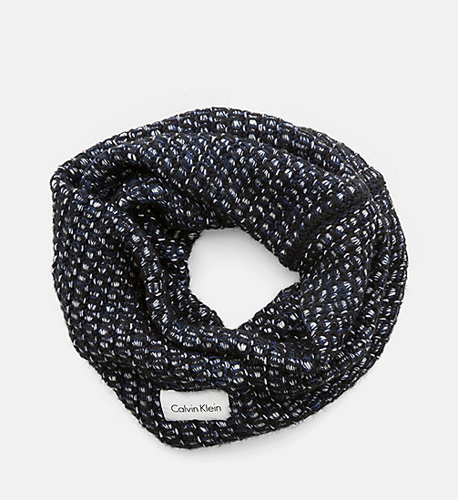 CALVINKLEIN Heavy Knit Snood - BLACK/POWDER WHITE/OMBRE - CALVIN KLEIN SCARVES - main image