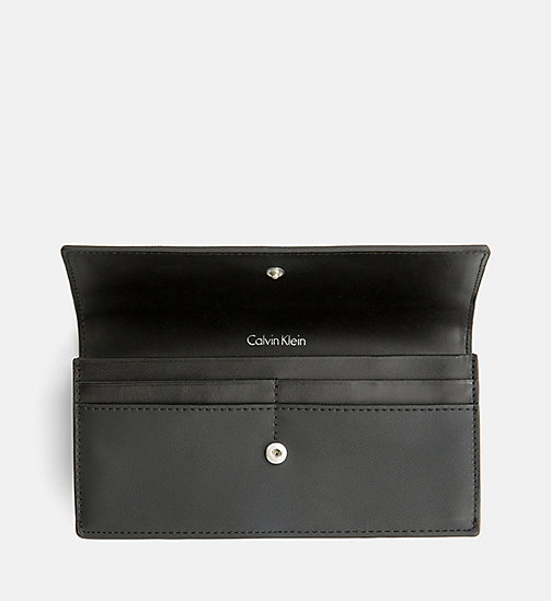 CALVINKLEIN Large Slim Trifold Wallet - BLACK - CALVIN KLEIN GIFTS FOR HER - detail image 1