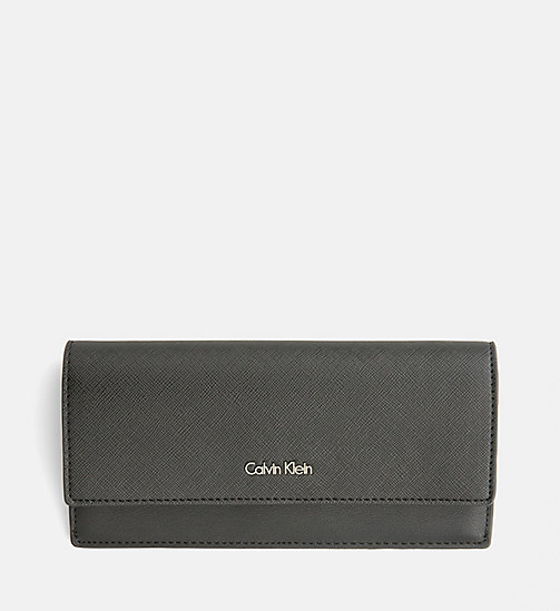 CALVINKLEIN Large Slim Trifold Wallet - BLACK - CALVIN KLEIN GIFTS FOR HER - main image