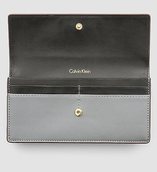 Large Slim Trifold Wallet - STEEL GREY - CALVIN KLEIN  - detail image 1