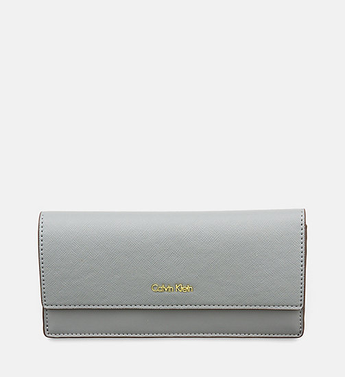 Large Slim Trifold Wallet - STEEL GREY - CALVIN KLEIN  - main image
