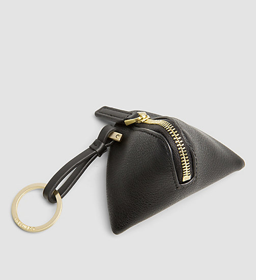 CALVINKLEIN Pyramid Coin Pouch - BLACK - CALVIN KLEIN SHOES & ACCESSORIES - detail image 1