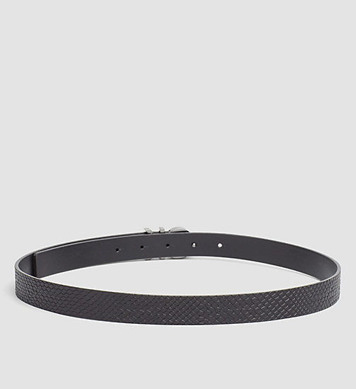 CALVINKLEIN Leather Snake Belt - BLACK - CALVIN KLEIN SHOES & ACCESSORIES - detail image 1