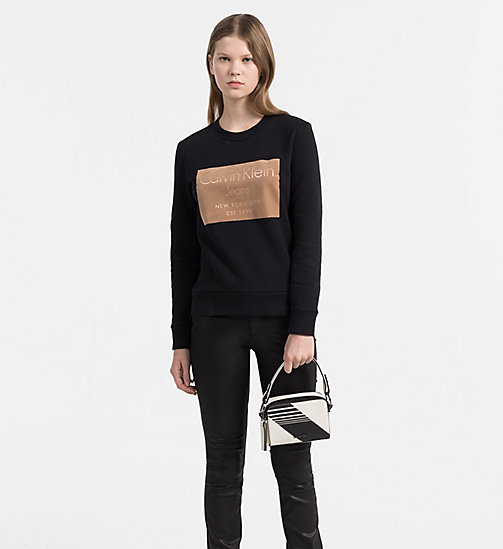 CALVINKLEIN Small Stripe Crossover - DUSTED IVORY/BLACK - CALVIN KLEIN BAGS - detail image 1