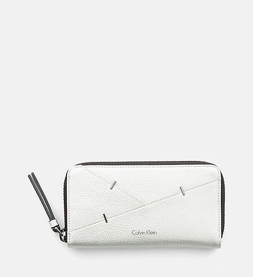 CALVINKLEIN Large Zip-Around Wallet - SILVER - CALVIN KLEIN WALLETS - main image