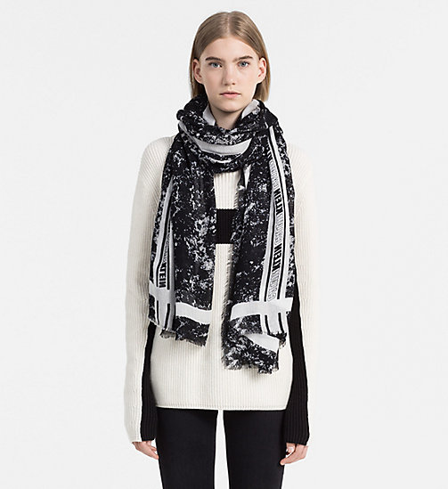 CALVINKLEIN Speed Racer Scarf - BLACK MIX - CALVIN KLEIN JEANS SHOES & ACCESSORIES - detail image 1