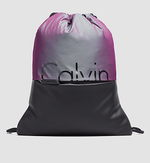 Flat Backpack - IRIDESCENT/BLACK - CALVIN KLEIN  - main image