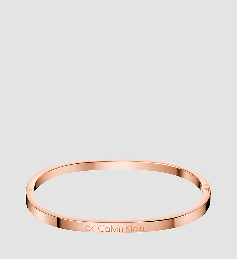 CALVINKLEIN Closed Bangle - Calvin Klein Hook - SST / PINK GOLD - CALVIN KLEIN SHOES & ACCESSORIES - main image