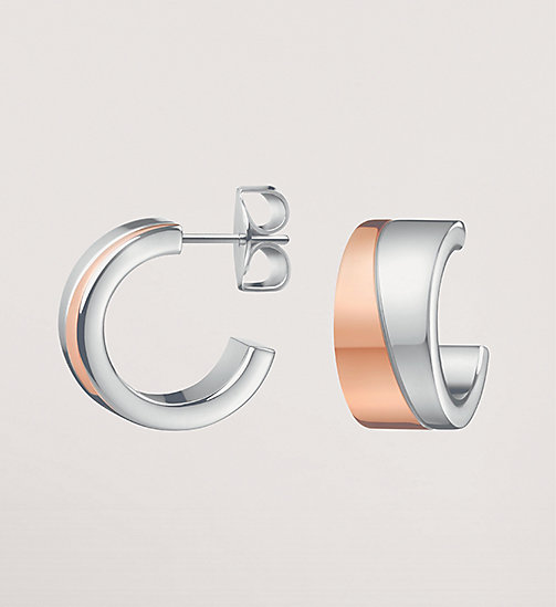 CALVINKLEIN Earrings - Calvin Klein Hook - SST / PINK PVD - CALVIN KLEIN WATCHES & JEWELLERY - main image